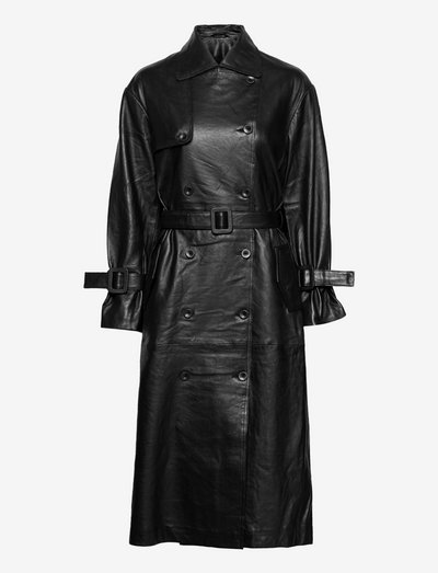 Becky leather - trenchcoats - black