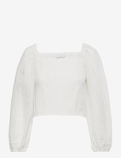 Capri - langærmede bluser - white