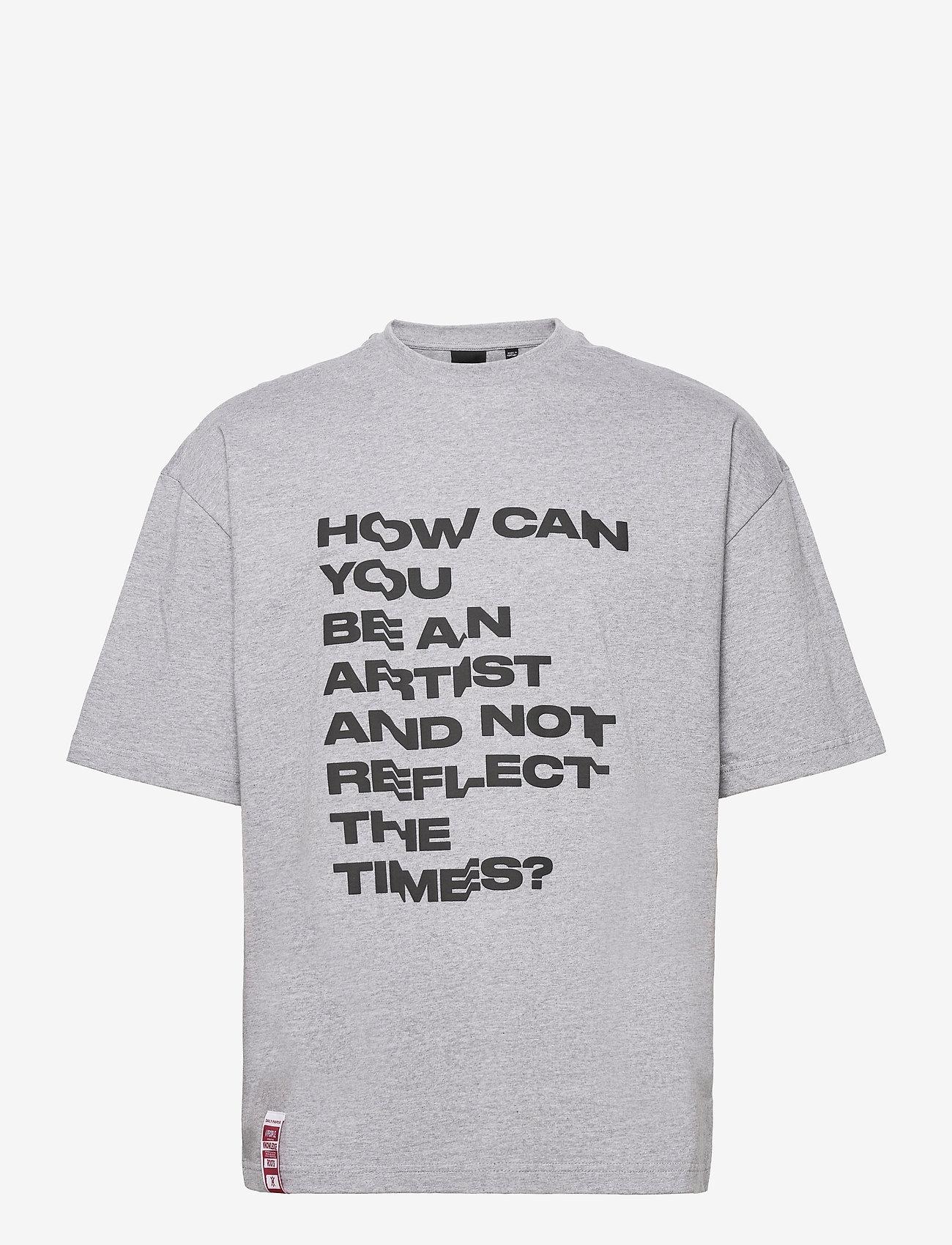 Daily Paper - Kengra - t-shirts à manches courtes - grey melange - 0