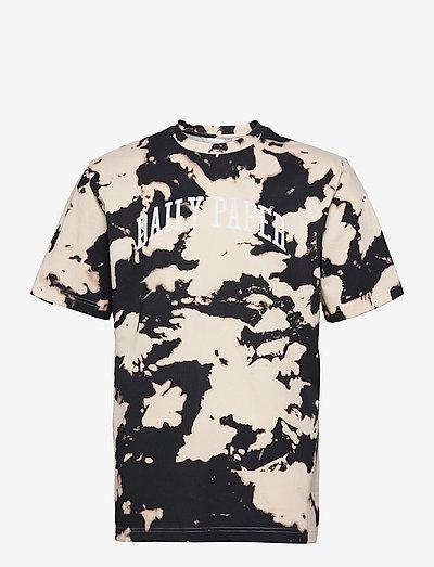 rehim tee - t-shirts à manches courtes - ecru/dark navy