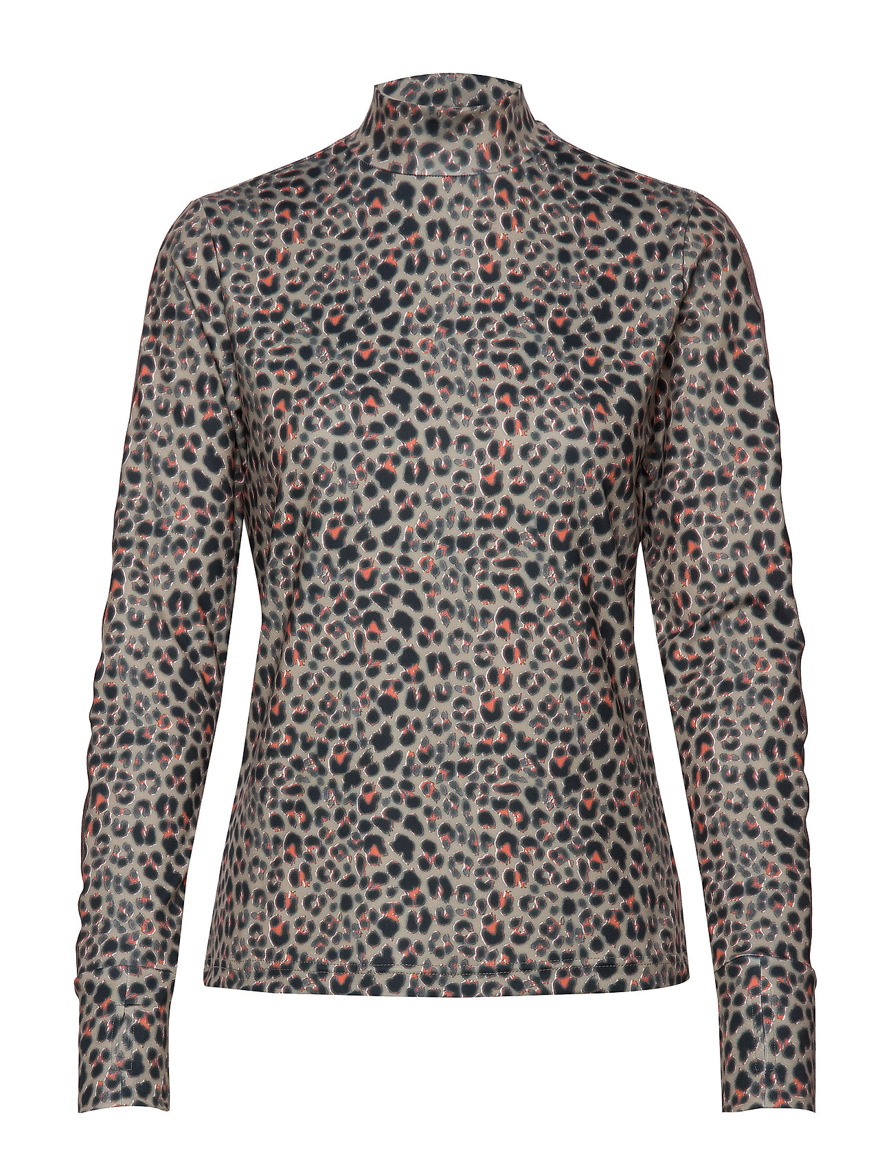 Daily Sports PRINTED LS MOCK NECK - ALMOND