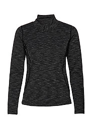 LEA LS MOCK NECK - BLACK