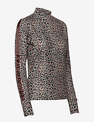 Daily Sports - PRINTED LS MOCK NECK - hauts à manches longues - almond - 2