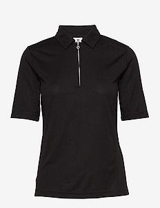 MACY 1/2S POLO SHIRT - tops & t-shirts - black