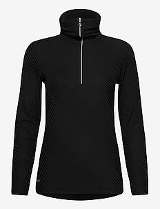 FLOY LS HALF NECK - turtlenecks - black