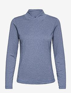 AGNES LS MOCK NECK - longsleeved tops - crown blue