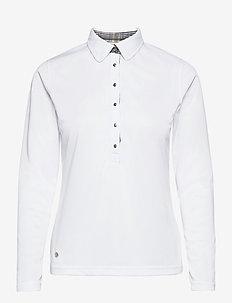 LUNA LS POLO SHIRT - koszulki polo - white