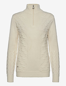 ALONDRA LS PULLOVER UNLINED - gensere - ivory