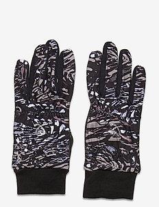 LUNA GLOVE WITH LOGO - accessories - black