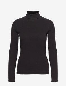 MAGGIE LS ROLL NECK - bluzki z długim rękawem - black