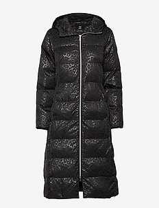 HEAT PADDED COAT - BLACK
