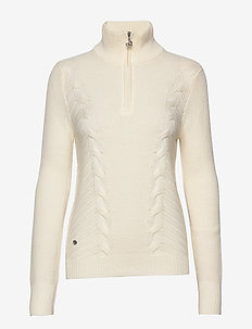 CATTIE LS PULLOVER UNLINED - pologenser - ivory