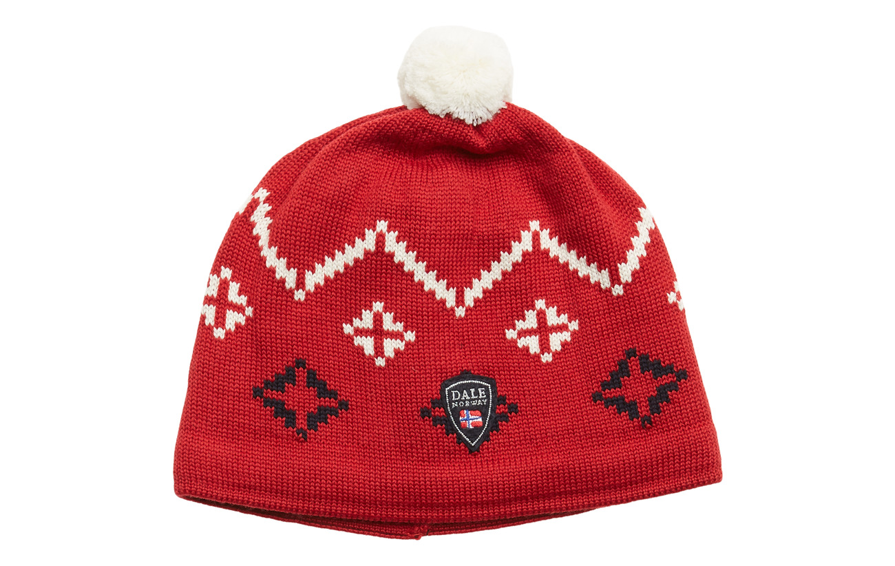Dale of Norway Seefeld Hat - RASPBERRY/OFF WHITE