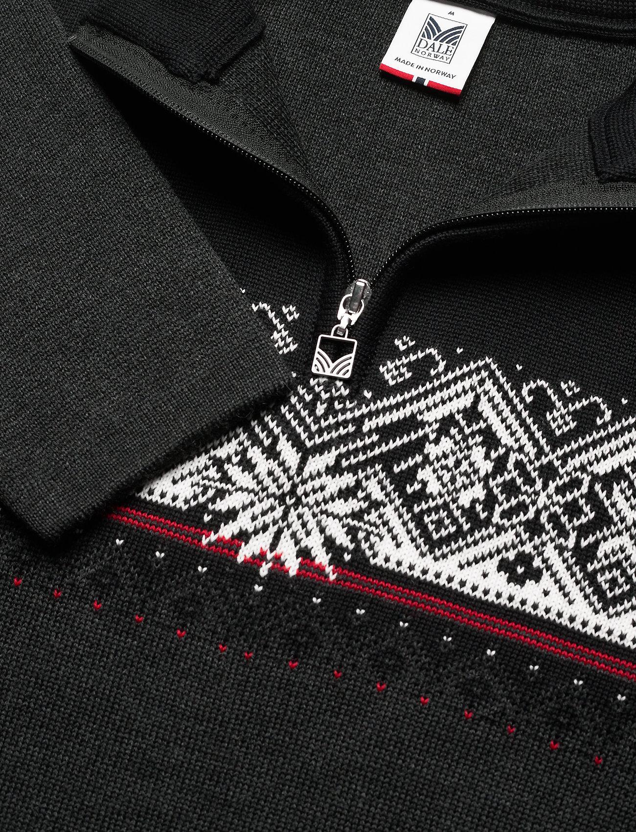 Dale of Norway Moritz Masc Sweater - Strikkevarer DARKCHARCOAL/RASPBERRY/BLACK - Menn Klær