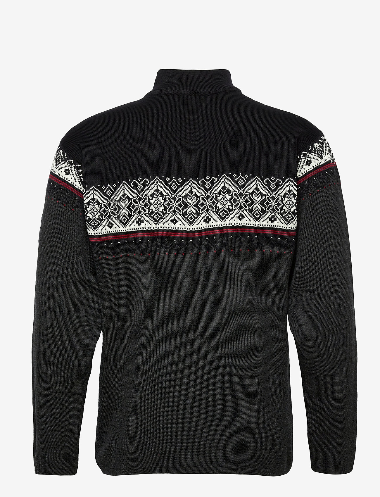 Dale of Norway Moritz Masc Sweater - Strikkevarer DARKCHARCOAL/RASPBERRY/BLACK - Menn Klær