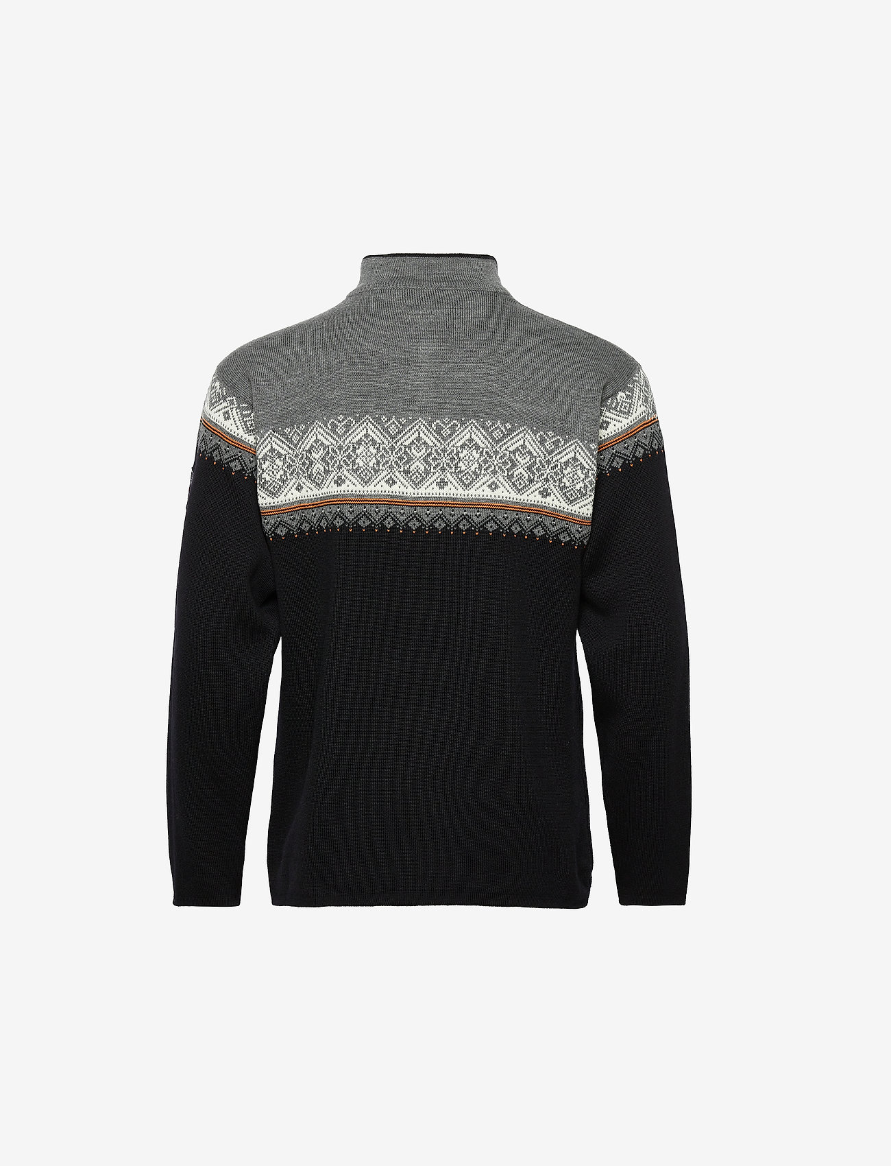 Dale of Norway Moritz Masc Sweater - Strikkevarer BLACK/ORANGEPEEL/OFFWHITE - Menn Klær
