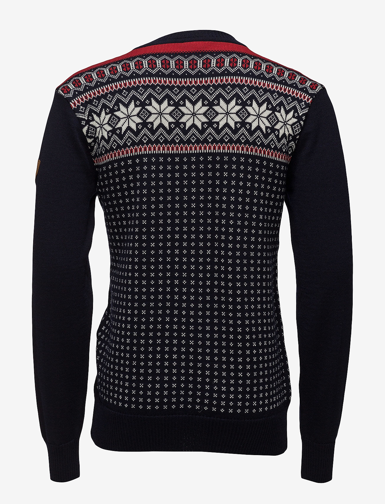 Dale of Norway Garmisch Masc Sweater - Strikkevarer NAVY/OFF WHITE/RASPBERRY - Menn Klær