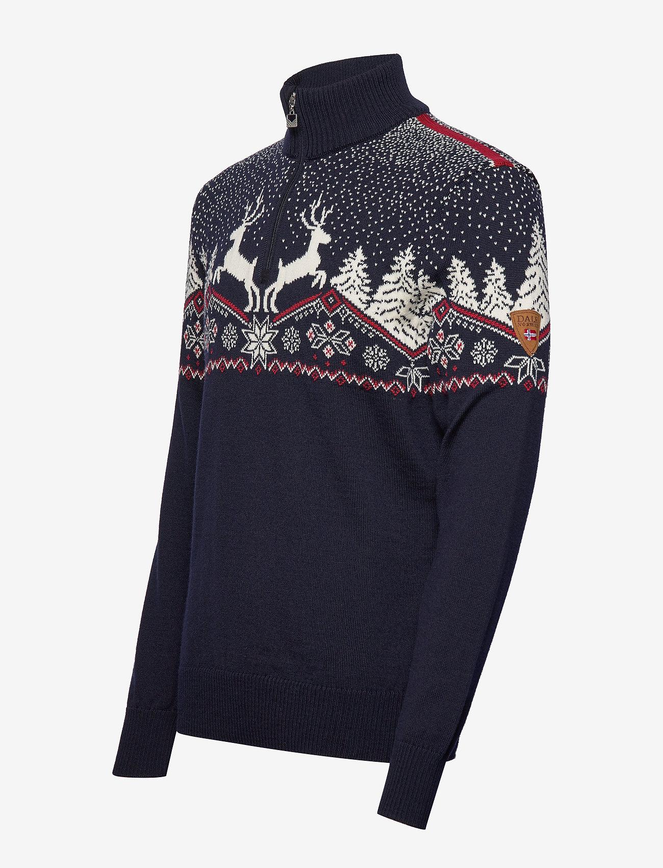 Dale of Norway Dale Christmas Masc Sweater - Strikkevarer REDROSE/OFFWHITE/NAVY - Menn Klær