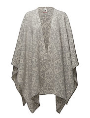 Rose shawl - LIGHT CHARCOAL/OFF WHITE