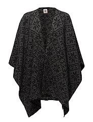 Rose shawl - BLACK/SMOKE
