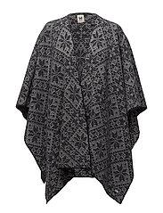 Rose shawl - NAVY/LIGHT CHARCOAL
