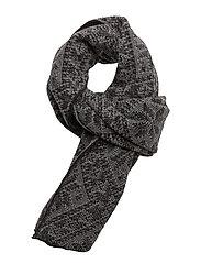 Rose scarf - BLACK/SMOKE
