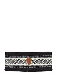 Cortina Merino headband - BLACK/WHITE