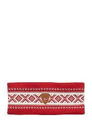Cortina Merino headband - RASPBERRY/OFF WHITE