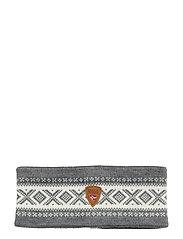 Cortina Merino headband - SMOKE/OFF WHITE