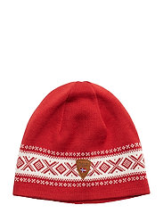 Cortina Merino hat - RASPBERRY/OFF WHITE