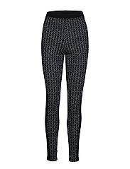 Stjerne Fem Leggings - BLACK