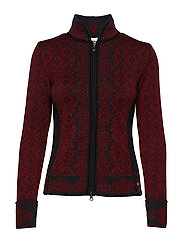 Christiania Fem Jacket - RUBY MELE/DARK CHARCOAL