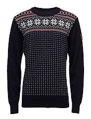 Garmisch Masc Sweater - NAVY/OFF WHITE/RASPBERRY