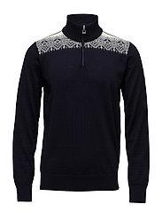Fiemme masc sweater - DARK CHARCOAL/GRAU VIG/RASPBERRY/OFF WHITE