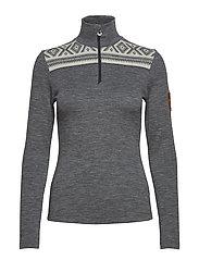 Cortina basic feminine sweater - SMOKE/OFF WHITE