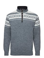 Cortina half zip sweater - SMOKE/OFF WHITE
