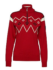 Seefeld feminine sweater - RASPBERRY/OFF WHITE
