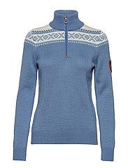 Cortina merino feminine sweate - BLUE SHADOW/OFF WHITE