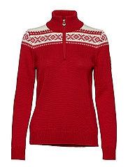 Cortina merino feminine sweate - RASPBERRY/OFF WHITE