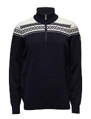 Cortina merino masculine sweater - NAVY/OFF WHITE