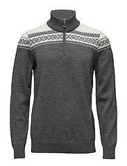 Cortina merino masculine sweater - SMOKE/OFF WHITE