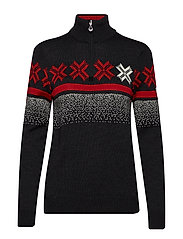 Åre Feminine sweater - SMOKE/RASPBERRY