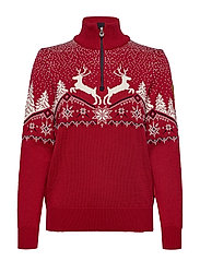 Dale Christmas Fem Sweater - RED