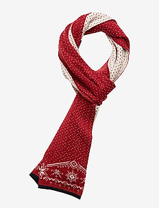 Dale Christmas Scarf - sjalar & halsdukar - red