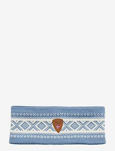 Cortina Merino headband - BLUE SHADOW/OFF WHITE