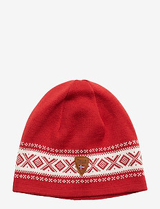 Cortina Merino hat - RASPBERRY/OFF WHITE