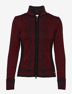 Christiania Fem Jacket - RUBY MELE/DARK CHARCOAL