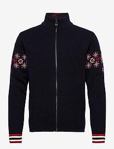 Monte Cristallo Masc Jacket - vesten - navy/red/offwhite