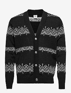 Skansen Masc Jacket - basic gebreide truien - black/offwhite