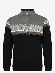 Moritz Masc Sweater - góry - black/orangepeel/offwhite